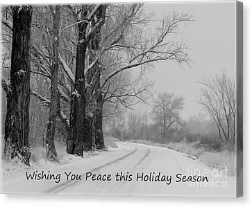 Peaceful Holiday Card Canvas Print by Carol Groenen