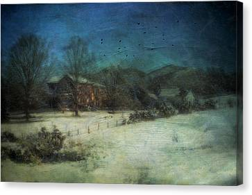Peaceful In The Country Canvas Print by Kathy Jennings