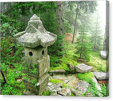 Parc Canvas Print - Peaceful Japanese Garden On Mount Desert Island by Edward Fielding