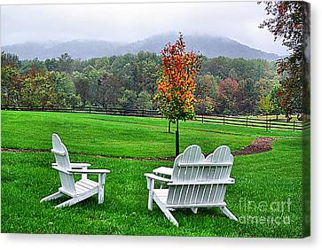 Canvas Print featuring the photograph Peaceful Spot  by John S