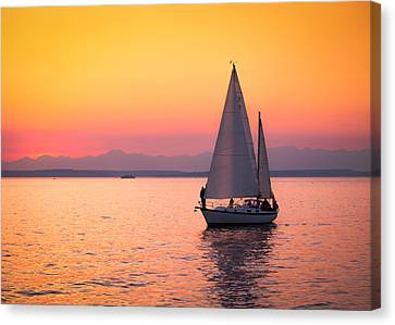 Peaceful Journey Canvas Print by Anthony J Wright