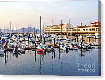 Canvas Print featuring the photograph Peaceful Marina by Kate Brown