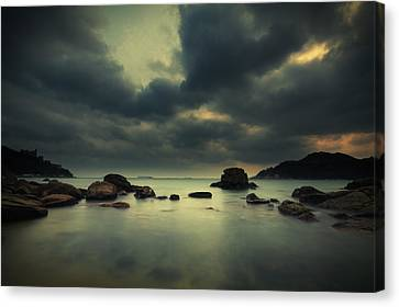 Canvas Print featuring the photograph Peaceful Moment 1 by Afrison Ma
