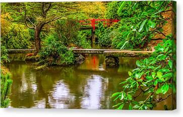 Peaceful Morning At Kubota Gardens Canvas Print