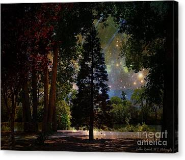 Magical Night At The River Canvas Print