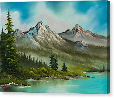 Peaceful Pines Canvas Print by C Steele
