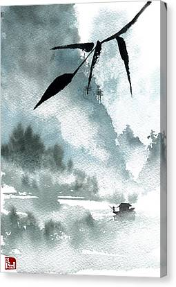 Chinese Landscape Canvas Print - Peaceful River by Sean Seal