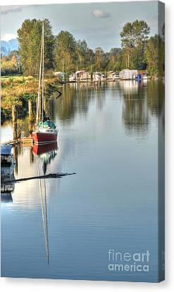Peaceful River View Canvas Print by Malu Couttolenc