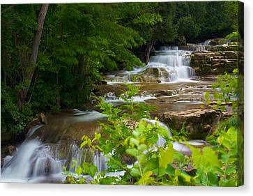 Canvas Print featuring the photograph Peaceful Stockbridge Falls  by Dave Files