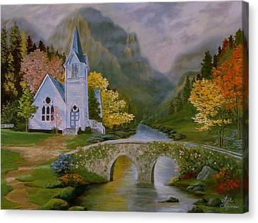 Peaceful Stream Canvas Print by Rick Fitzsimons