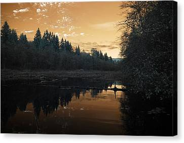 Canvas Print featuring the photograph Peaceful Sunset by Rebecca Parker