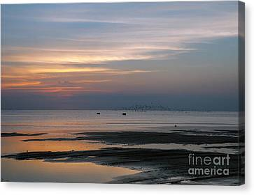 Peaceful Sunset Canvas Print by Tammy Smith