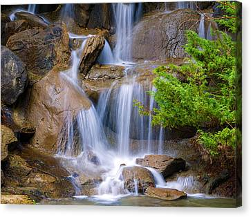 Canvas Print featuring the photograph Peaceful Waterfall by Jordan Blackstone