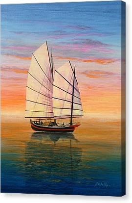 Peaceful Waters Canvas Print by J W Kelly
