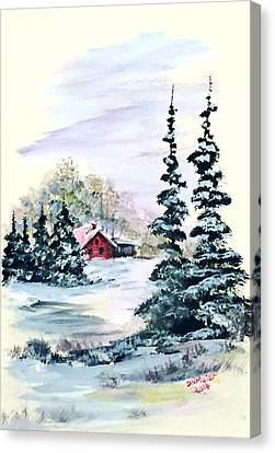 Peaceful Winter Canvas Print