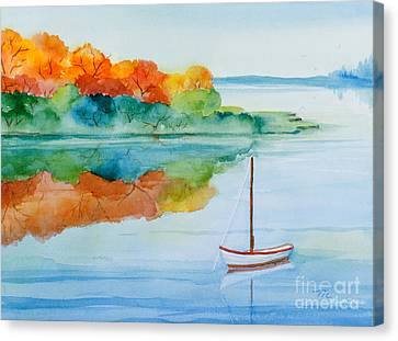 Peacefully Waiting Watercolor Canvas Print by Michelle Wiarda