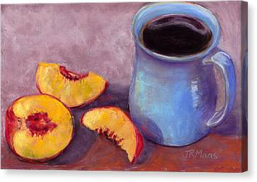 Canvas Print featuring the pastel Peach Break by Julie Maas