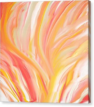 Peach Flare Canvas Print by Lourry Legarde