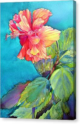 Peach Paradise Canvas Print