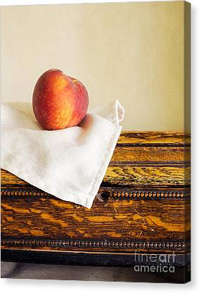 Peaches Canvas Print - Peach Still Life by Edward Fielding