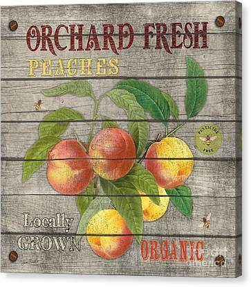 Locally Grown Canvas Print - Peaches-jp2676 by Jean Plout