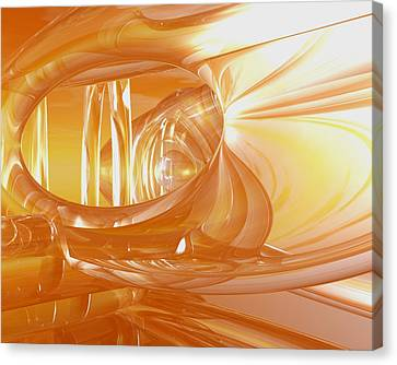 Peaches N' Cream Canvas Print by Joshua Thompson