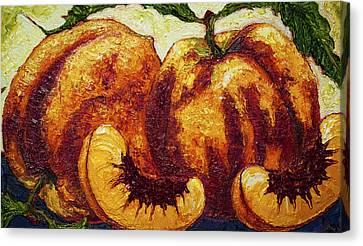 Peaches Canvas Print by Paris Wyatt Llanso