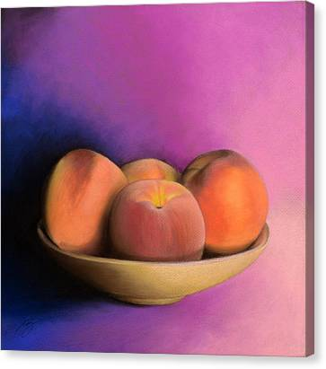 Peaches - Pastel Canvas Print