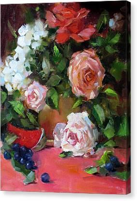 Peachy Canvas Print by Chris  Saper