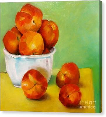 Peachy Keen Canvas Print by Michelle Abrams