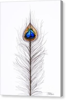 Peacock Abstract Canvas Print