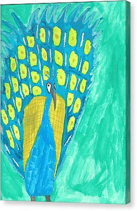 Peacock Canvas Print by Artists With Autism Inc