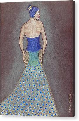 Peacock Fashion Inspiration Canvas Print by Nicole I Hamilton