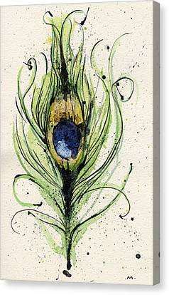 Peacock Feather Canvas Print by Mark M  Mellon