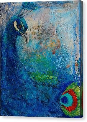 Peacock Canvas Print by Jean Cormier