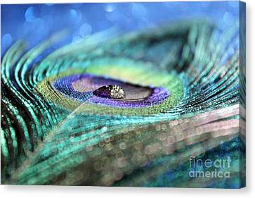 Peacock Jewel Canvas Print by Krissy Katsimbras