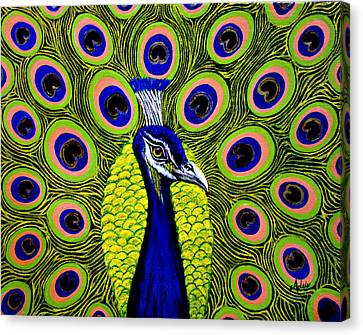 Peacock Mistique Canvas Print by Adele Moscaritolo