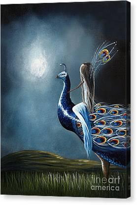 Peacock Princess By Shawna Erback Canvas Print by Shawna Erback