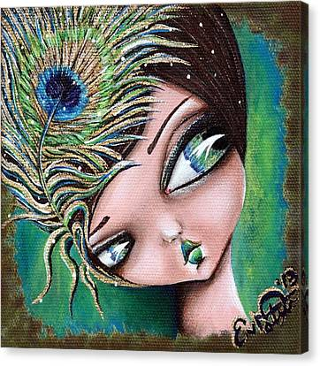 Peacock Princess Canvas Print