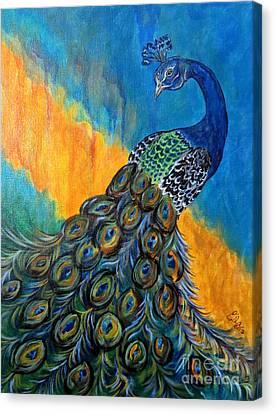 Peacock Waltz #3 Canvas Print