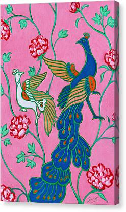 Peacocks Flying Southeast Canvas Print by Xueling Zou