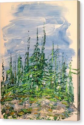 Peak Of Pines Canvas Print