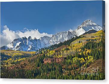 Peaks After First Snow Rockies Canvas Print by Yva Momatiuk John Eastcott