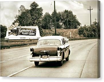 Peanut Chews Billboard Canvas Print