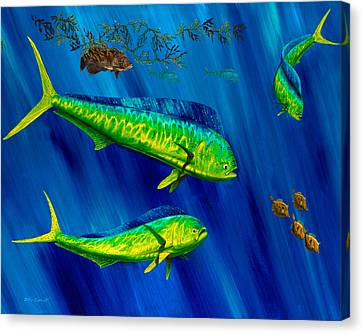 Peanut Gallery Canvas Print by Steve Ozment