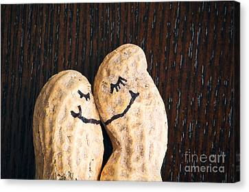 Peanuts In Love Canvas Print by Sharon Dominick