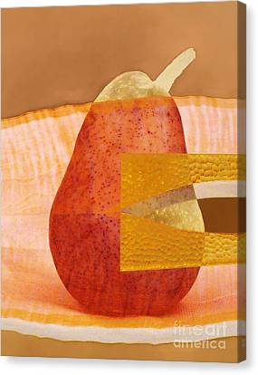 Pear 44 Canvas Print by Elena Nosyreva