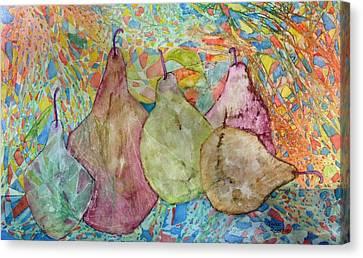Pear-a-dice Canvas Print by Isaac Alcantar