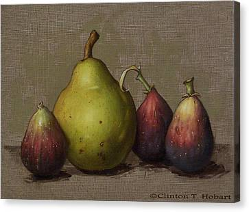 Pear And Figs Canvas Print by Clinton Hobart