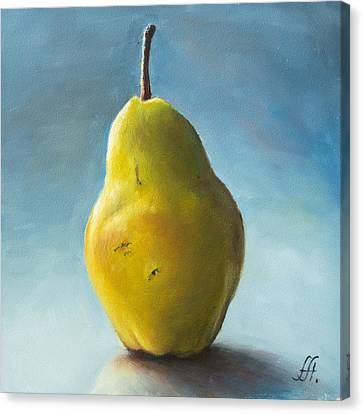 Pear Canvas Print by Anna Abramska